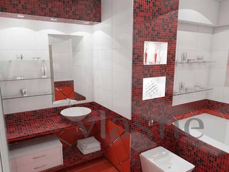 Красная ванная комната (56 фото): ФОТО дизайнов в…